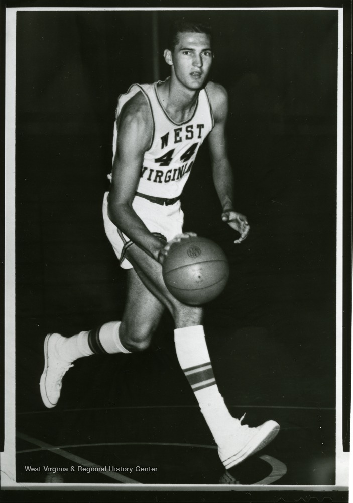 "[""West was an outstanding player for the Mountaineers and is a member of Pro Basketball's Hall of Fame. ""]"