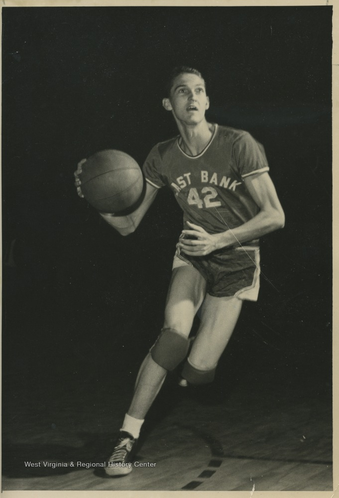 "[""West was the team's starting small forward. He was named All-State from 1953–56, then All-American in 1956 when he was West Virginia Player of the Year, becoming the state's first high-school player to score more than 900 points in a season.""]"