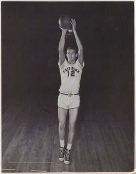 West played as the team's starting small forward. He was named All-State from 1953–56, then All-American in 1956 when he was West Virginia Player of the Year, becoming the state's first high-school player to score more than 900 points in a season.