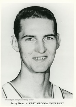 Jerry West played basketball for WVU from 1956-1960 during which time he had a number of achievements in the sport with the team.  He later played for the LA Lakers in the NBA before becoming a coach and manager.