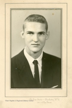 High School Senior Portrait of Jerry West.  West graduated from East Bank High School in 1956 and after a large number of universities showed interest in him, West chose to attend West Virginia University.