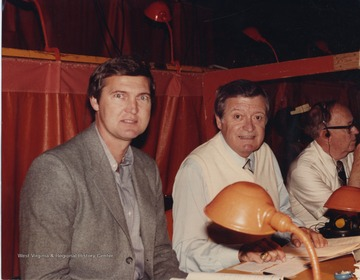 Chick Hearn called the play by play action during the Lakers broadcasts from 1965 until his death in 2002.